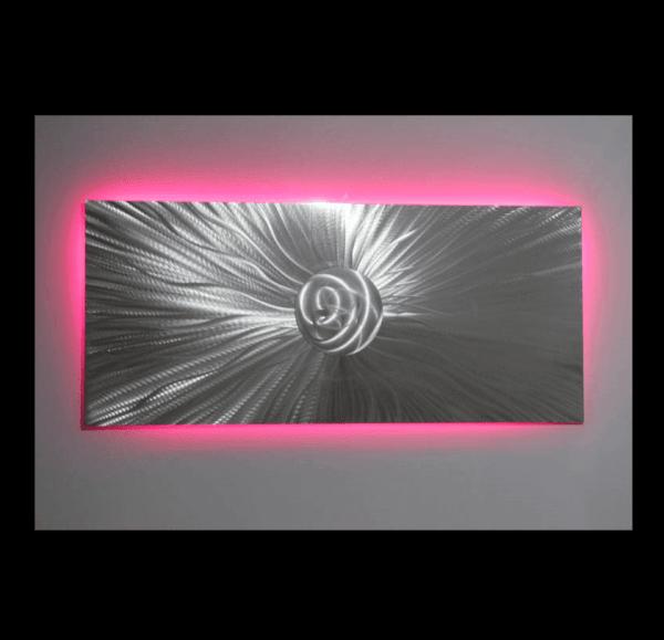 metal wall art led lighting