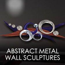 Abstract Metal Wall Sculptures