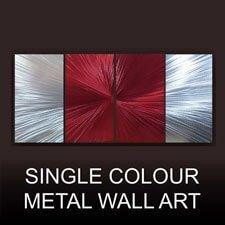 single colour metal wall art