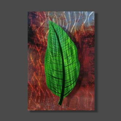 Metal Green Leaf