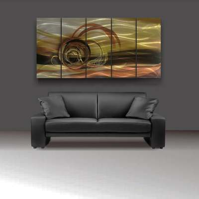 Mocha metal wall art