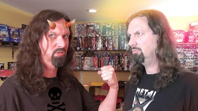 Metal Jesus battles The DEVIL