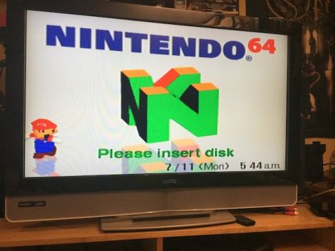 Prototype 64DD boots up in English!