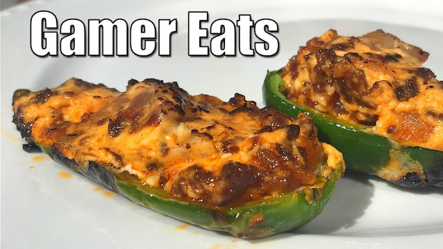 GAMER EATS: Stuffed Peppers & Smoked Nachos ON THE GRILL