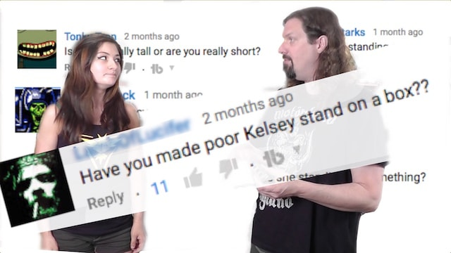 Does Metal Jesus make KELSEY STAND ON A BOX!?!?!