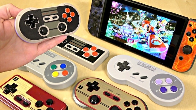 Nintendo Switch RETRO THEMED Wireless Controllers