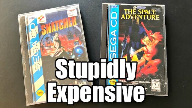 Stupidly RARE & EXPENSIVE Sega CD Games! $1,000 Dollars for SNATCHER?!