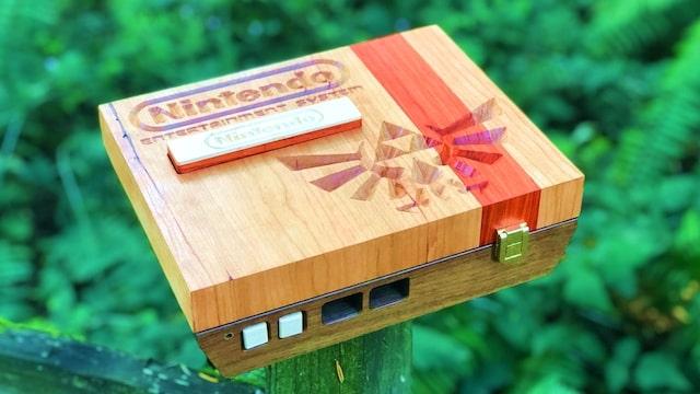 Beautiful Handmade Wood NES – It works!