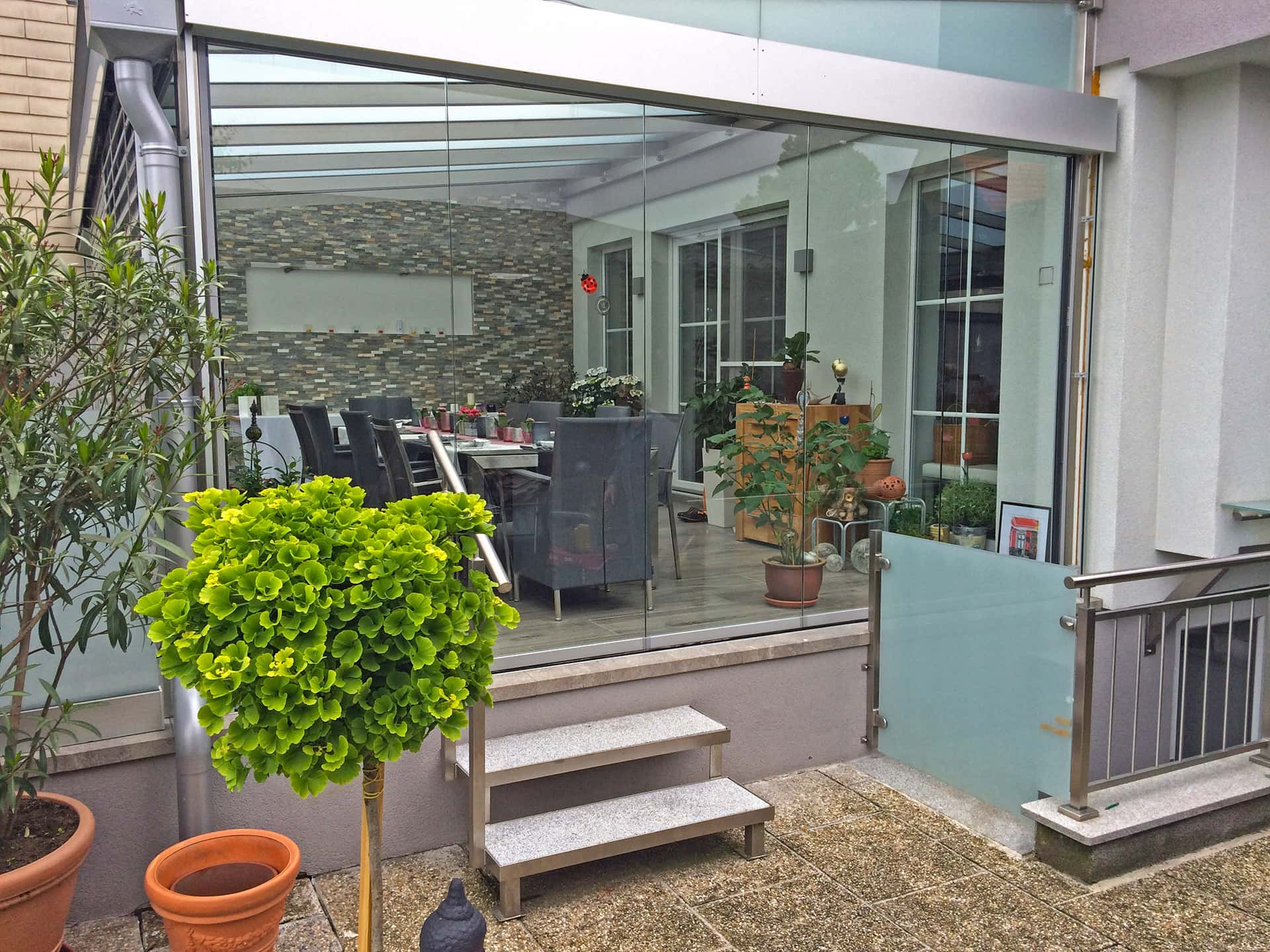 Sommergarten Solarlux Faltwand