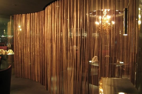 stainless steel wire mesh curtain. Black Bedroom Furniture Sets. Home Design Ideas