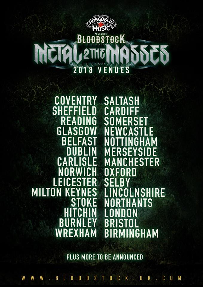 The venues for Metal 2 Masses 2018