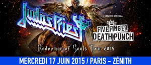 Judas Priest <br/>Zénith de Paris, 17 juin 2015