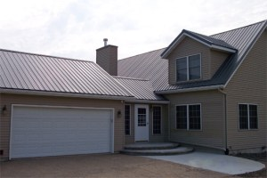 Fabral GrandRib residential metal roof with exposed fasteners