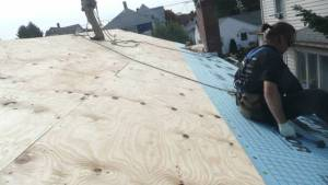 Installing Roof Underlayment over plywood decking