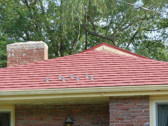 Steel Shingles Installed