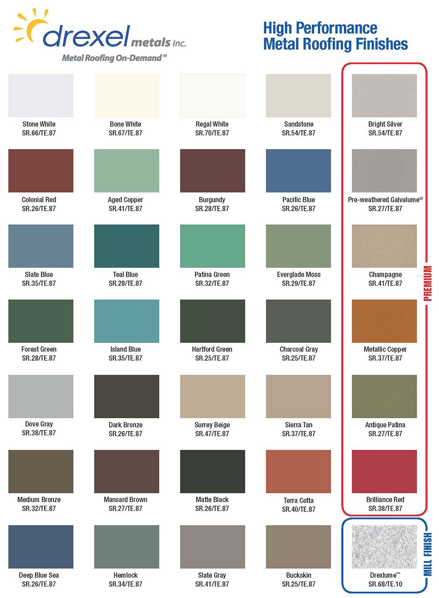 How to pick the right metal roof color consumer guide 2017 5 affordable metal nvjuhfo Choice Image