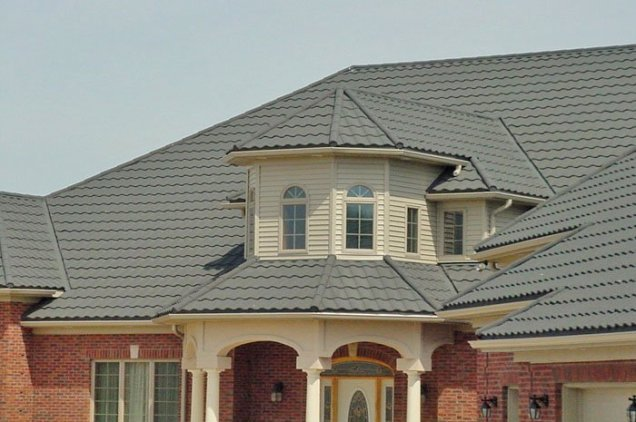 Turrets can be difficult to roof - unless you're Metal Roof Outlet's excellent installation team.