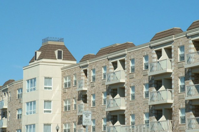 Here is a closer view of this condominium's steel shingle roof by Metal Roof Outlet.