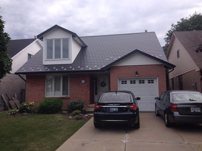 Metal shingle roofing installed in Hamilton Ontario by Metal Roof Outlet