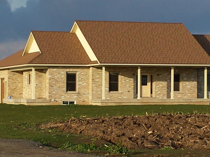 Steel Granite Ridge Shingle roofing in Jarvis Ontario installed by Metal Roof Outlet