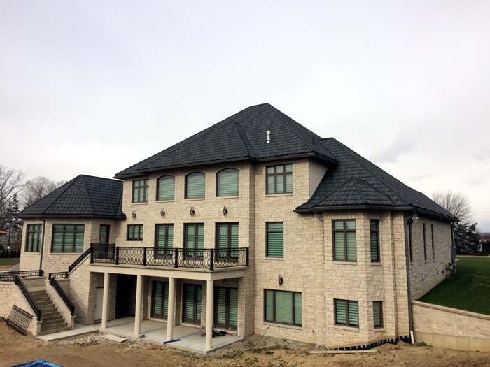 Leamington Ontario home featuring Metal Roof Outlet's steel continental tile