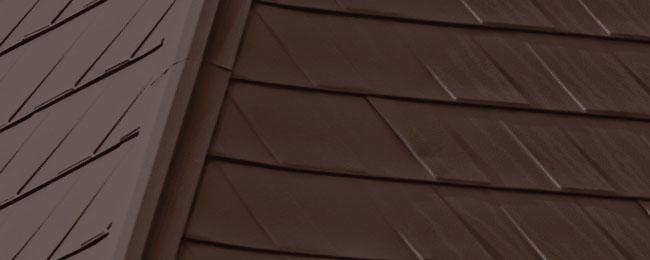 Mustang-Brown_Wakefield Bridge Steel Roof Tiles_Available at Metal Roof Outlet Ontario