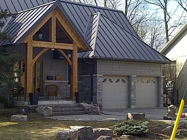 Maritime Grey coloured metal sheet roofing in Oakville Ontario