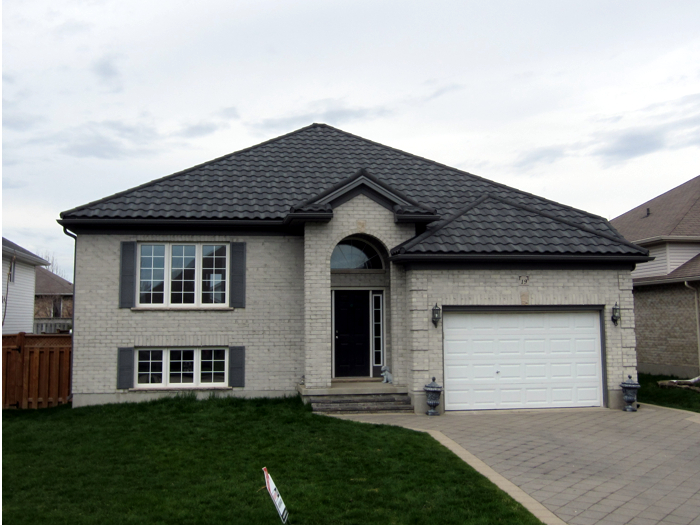 Metal tile roofing in St Thomas Ontario by Metal Roof Outlet