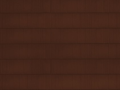 sample image of Arrowline Shake in Royal Brown available from Metal Roof Outlet