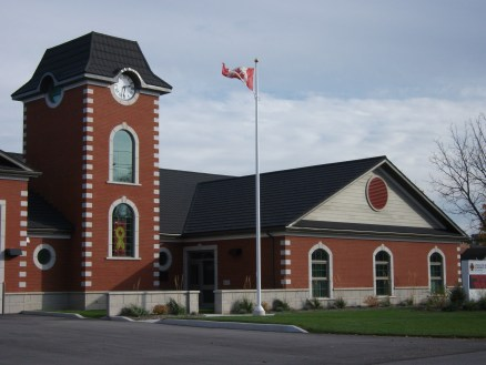 Here is another look at the steel slate roof Metal Roof Outlet installed for the Lincoln Fire Hall in Jordan, Ontario!
