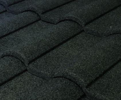 Barrel Vault Stone Coated Metal Tile Roof - Charcoal