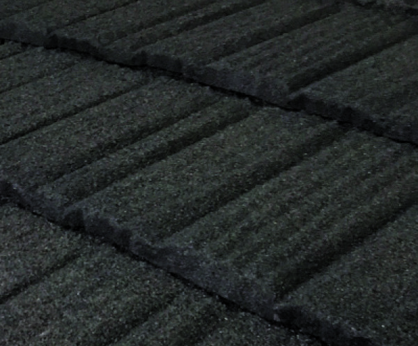 Pine Crest Shake Stone Coated Metal Roof - Colour Charcoal