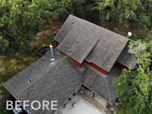 CF Shingle Charcoal - BEFORE with old asphalt