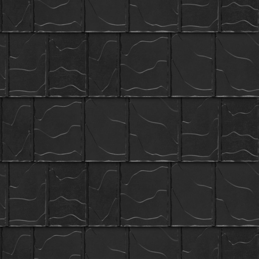 VicWest True North North Ridge Slate product image in the colour Ebony Signature Matte (Variation)