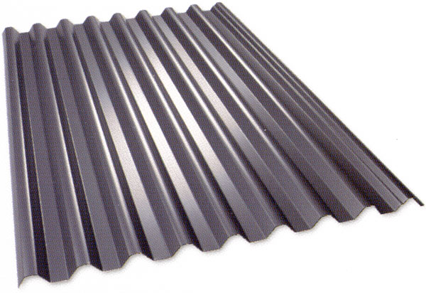 corrugated steel panel