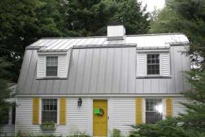 standing seam roof with metallic finish