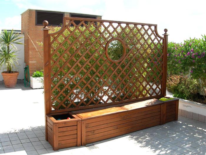 Fioriere da esterno metal tende for Cassapanca con seduta