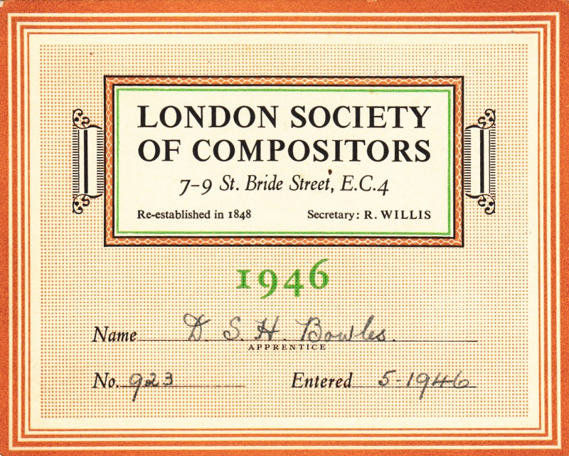 London Society of Compositors 1946