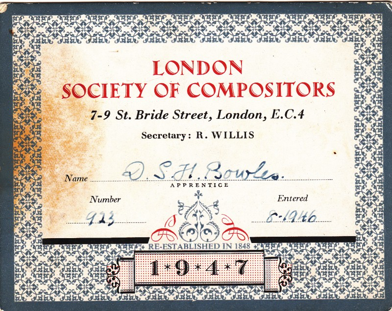 London Society of Compositors 1947