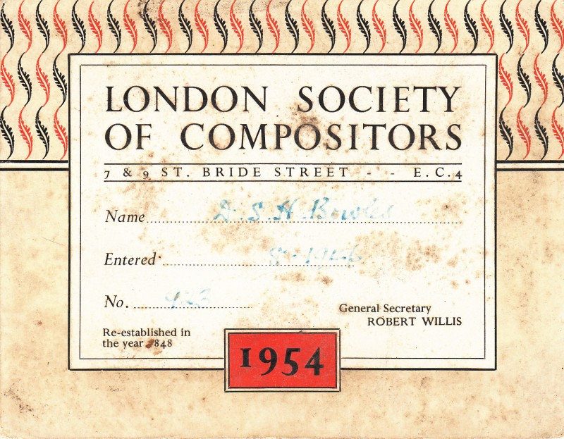 London Society of Compositors 1954