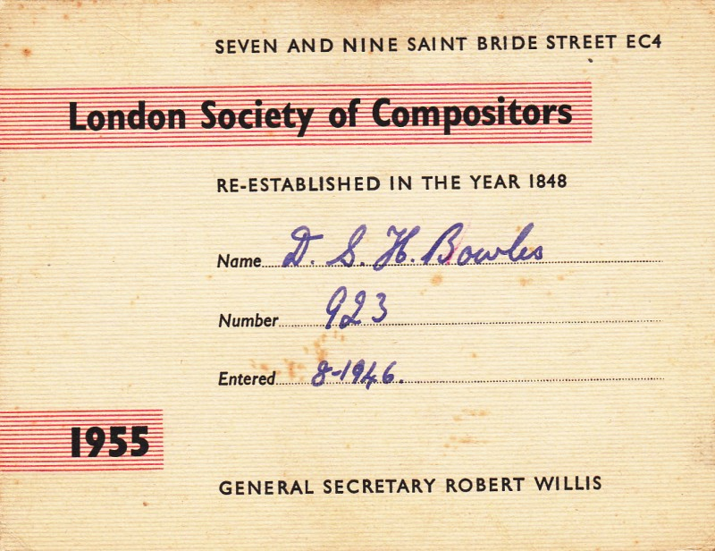 London Society of Compositors 1955