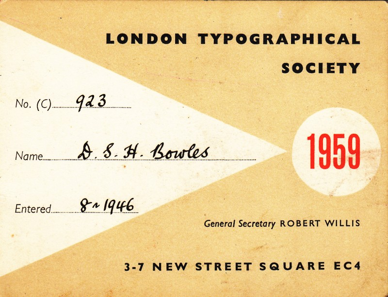 London Typographical Society 1959