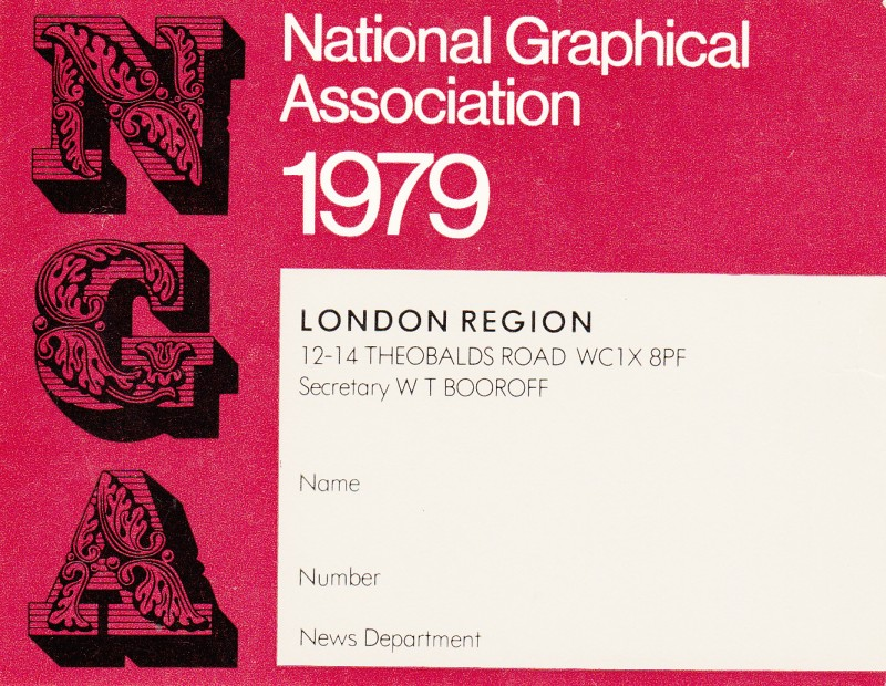 National Graphical Association 1979