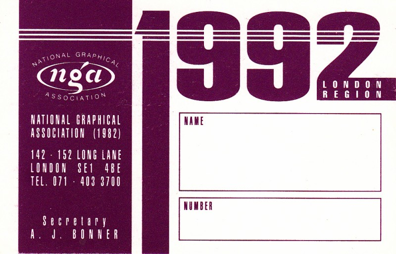 National Graphical Association 1992