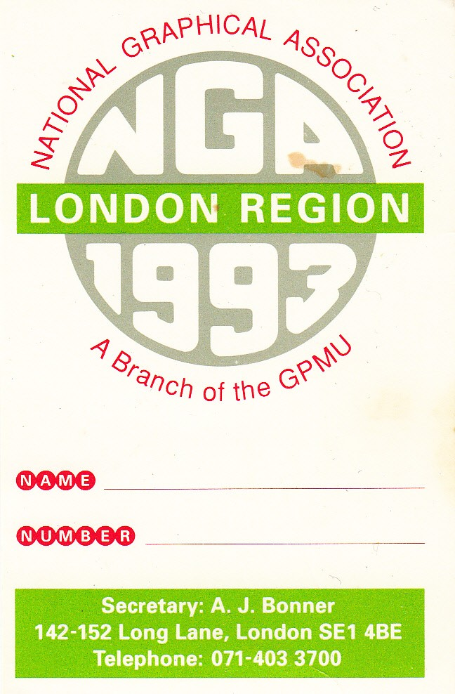 National Graphical Association 1993