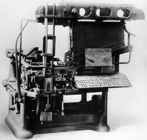 Mergenthaler Blower Linotype 1886