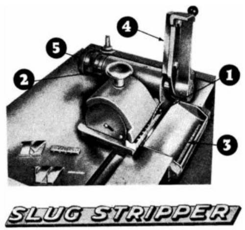 The table top of the Morrison Slug Stripper