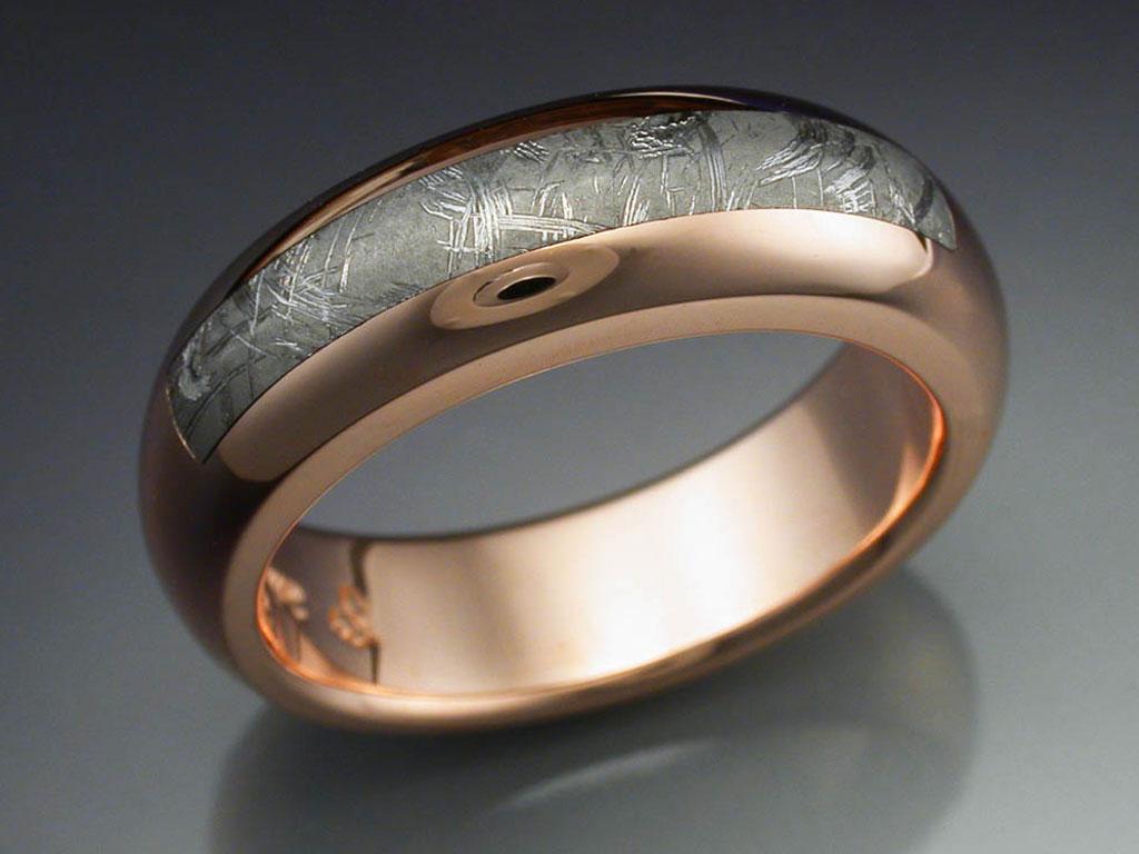 14k Rose Gold Amp Taza Meteorite Ring Metamorphosis