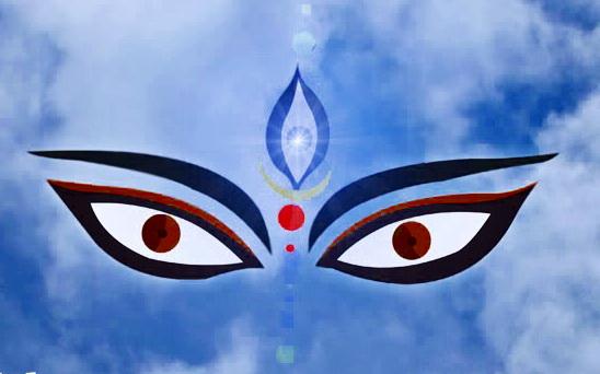 Image result for . 3 eyes of goddess durga