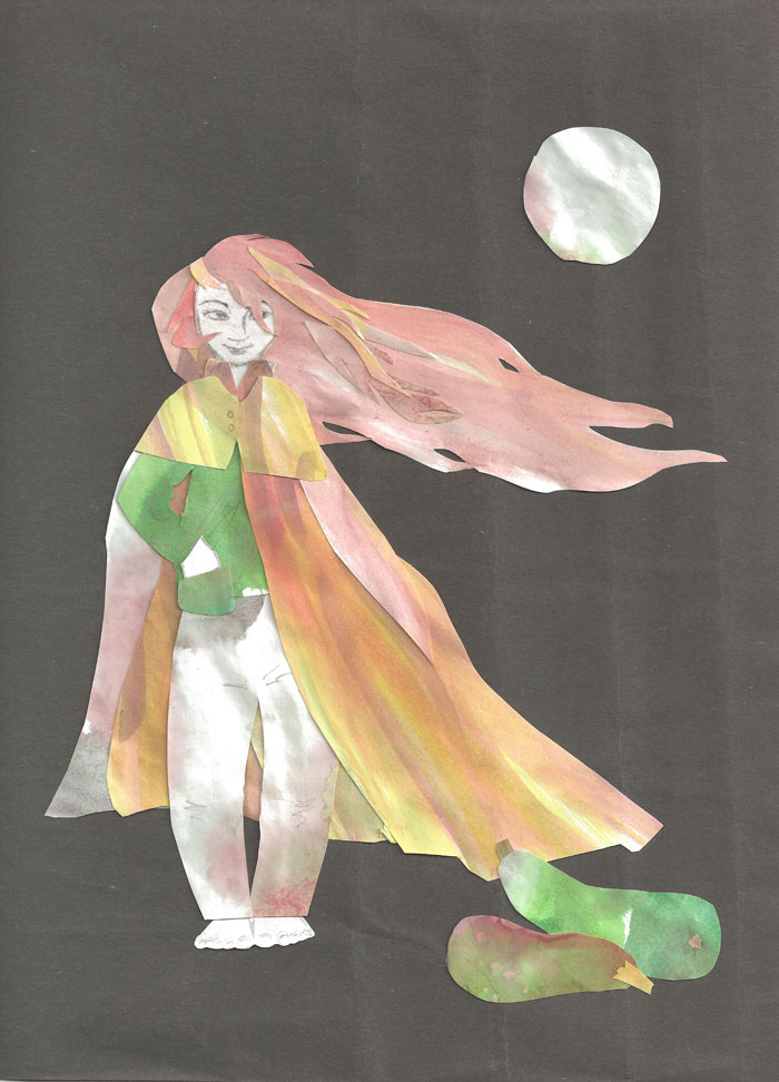 Zucchini Moon (collage)